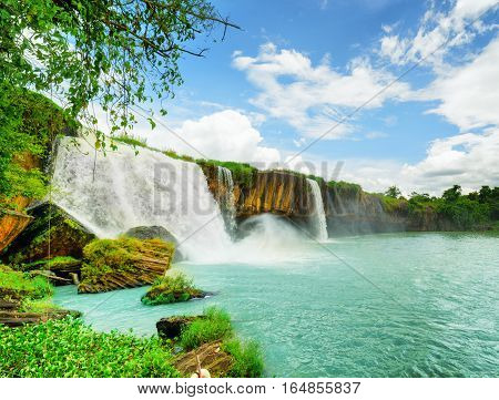 The Dray Nur Waterfall In Dak Lak Province Of Vietnam