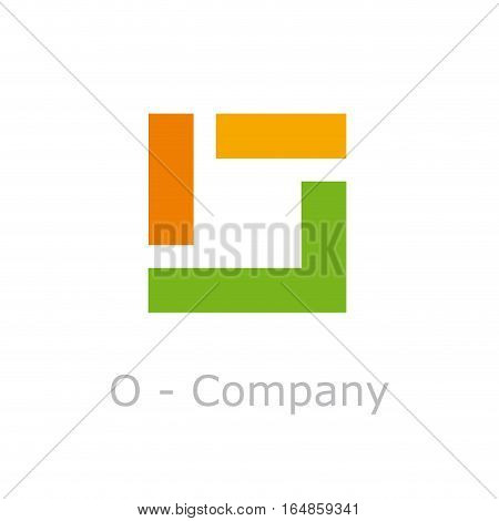 Vector sign abstract broken letter O number 0