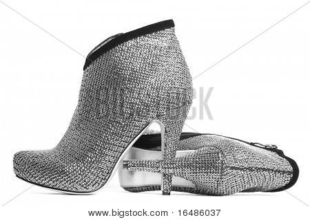womanish shoes isolated on white background poster