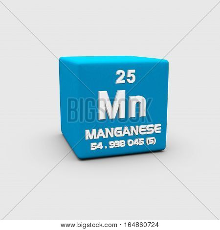 Manganese is a chemical element with symbol Mn and atomic number 25.