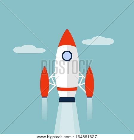 Vector Rocket icon, design element for mobile and web applications, eps 10