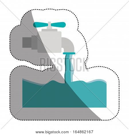 Tap icon. Faucet ecology water drink liquid and beverage theme. Isolated design. Vector illustration