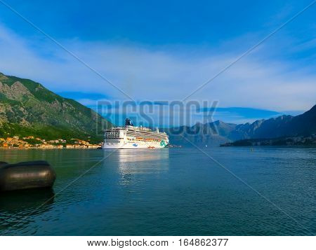Kotor, Montenegro - May 07, 2014: The Cruise Liner Norwegian Jade By Ncl Docked At The Port