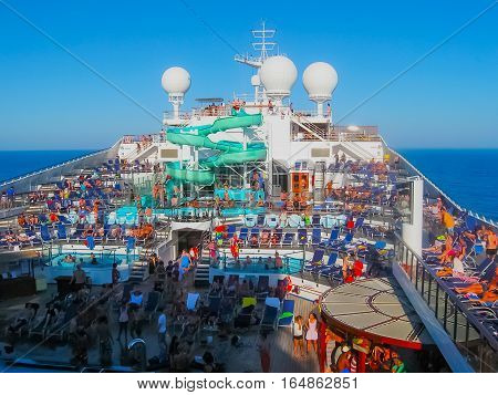 Miami, Usa - January 12, 2014: Carnival Glory Cruise Ship