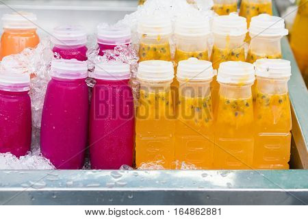 Mixed Ice Cold Juice Bottle, healthy food