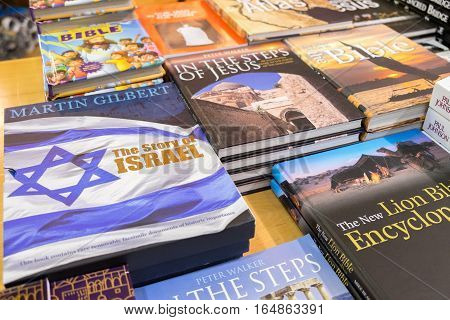 Many Israely Books For Sale At Gift Shop