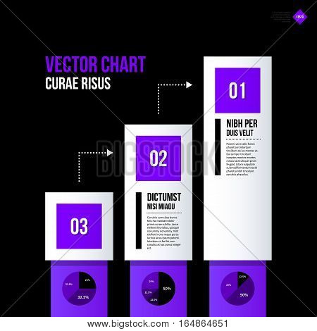 Chart Layout With Vertical Elements. Eps10 Vector Template