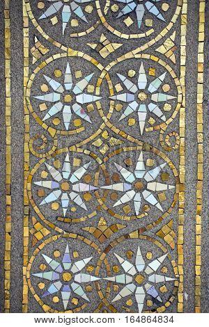 Mosaic, detail of the wedding tower in Darmstadt (Mathildenhoehe)
