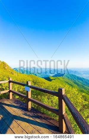 Jirisan Mountain Viewpoint Deck Landscape View V