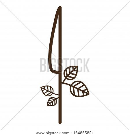 Knife icon. Cutlery dishware tool and utensil theme. Isolated design. Vector illustration