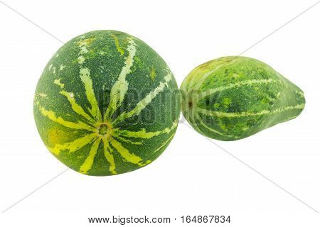 Ripe melon isolated on white and background.