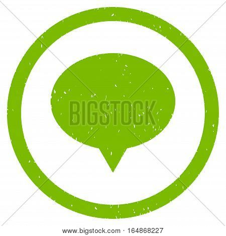 Banner Balloon rubber seal stamp watermark. Icon vector symbol with grunge design and corrosion texture. Scratched eco green ink sign on a white background.