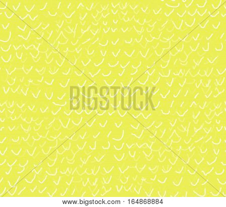 abstract seamless background on a yellow background white thick and thin hand painted fine jackdaw