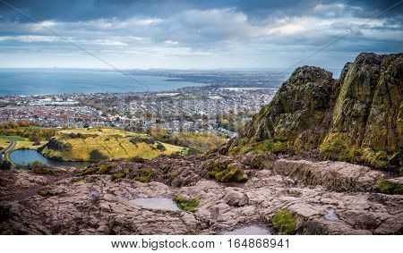 Edinburgh as seen from the top of Arthur's seat