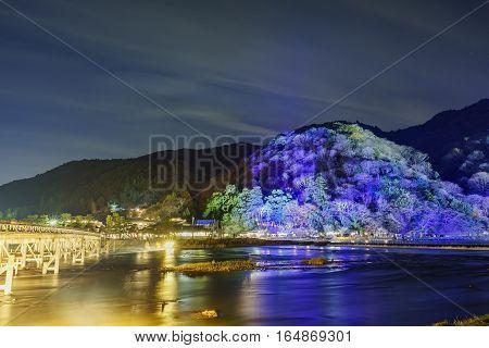 Light Up And Light Festival In Arashiyama Area