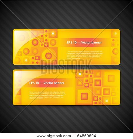Two Modern Banners For Web Advertising. Useful For Presentations And Advertising.
