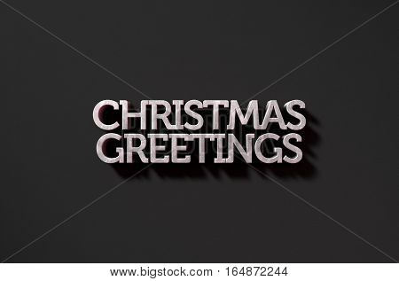 Christmas Greetings Text On Black