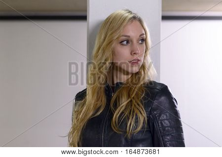 Attractive Serious Young Blond Woman
