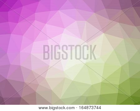 Abstract Green Pink Gradient Polygon Shaped Background
