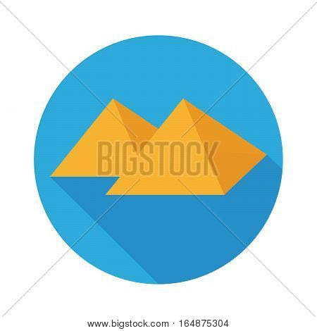 Flat Icon Pyramid And Long Shadow For Travel