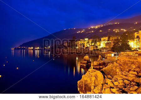 Lovran Waterfront Evening Blue View