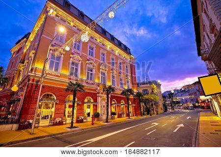 Town Of Opatija Evening Streetscape