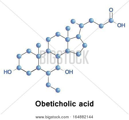 Obeticholic acid, INT-747, is a semi-synthetic bile acid analogue. It is undergoing development as a pharmaceutical agent for liver diseases and related disorders.