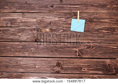 Note Papers On Rustic Wood Planks.