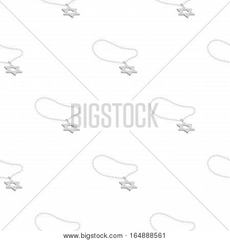 Star of David icon in cartoon style isolated on white background. Religion pattern vector illustration.