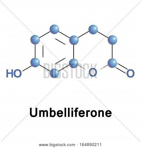 umbelliferone is a widespread natural product of the coumarin family, an ultraviolet fluorescence absorber