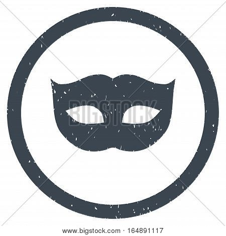 Privacy Mask rubber seal stamp watermark. Icon vector symbol with grunge design and unclean texture. Scratched smooth blue ink emblem on a white background.