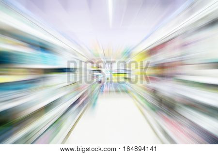 super market bokeh as an abstract background