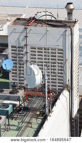 Old Big Telecommunication Satellite Dish.