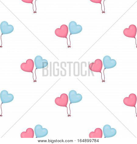 Baloons icon in cartoon style isolated on white background. Romantic pattern vector illustration.