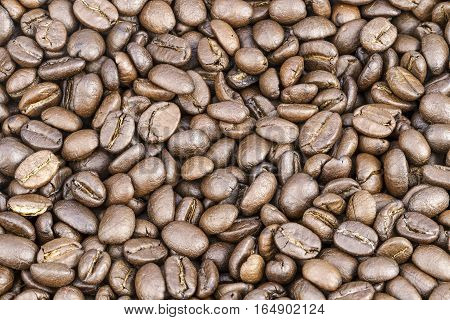 Brown Roasted coffee beans seed for background