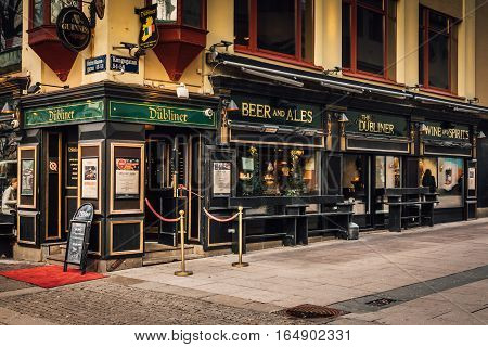 Genuine Irish pub in Gothenburg Sweden Gothenburg, Sweden 2016-11-22