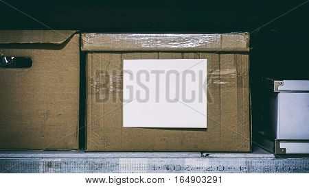 Paper Box With Paperwork, The Inscription On A White Sheet Of Paper