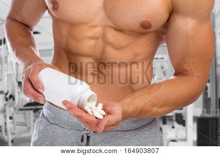 Doping Anabolic Pills Abuse Bodybuilder Bodybuilding Gym Muscles Strong Muscular Man