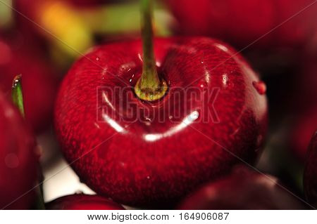 Red Cherries - Close Up