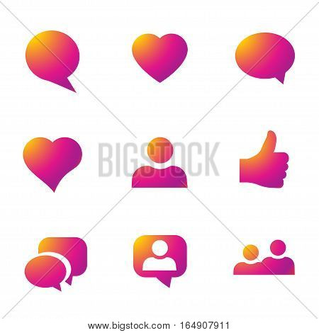 Color gradient icon template. Vector illustration on white background for your social media app design project and other.