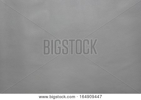 Grey leather texture, background natural fabric material
