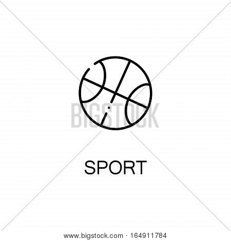 Ball flat icon. Single high quality outline symbol of education for web design or mobile app. Thin line signs of basketball for design logo, visit card, etc. Outline pictogram of sport
