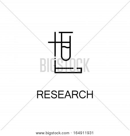 Vial flat icon. Single high quality outline symbol of education for web design or mobile app. Thin line signs of vial for design logo, visit card, etc. Outline pictogram of vial