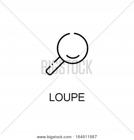 MAGNIFIER flat icon. Single high quality outline symbol of education for web design or mobile app. Thin line signs of MAGNIFIER for design logo, visit card, etc. Outline pictogram of MAGNIFIER