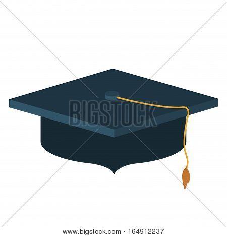 Graduation cap icon. University education and school theme. Isolated design. Vector illustration