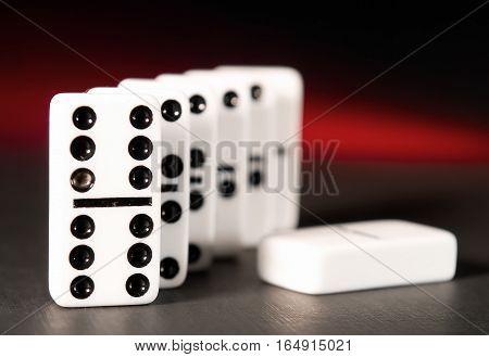 The Game Of Dominoes. Dice Domino. Accessories For Games