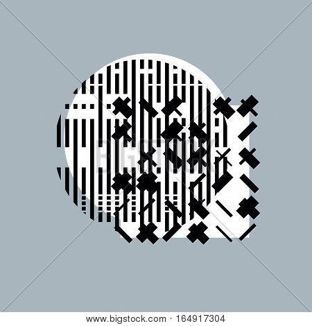 Abstract graphic art vector geometric digital illustration.