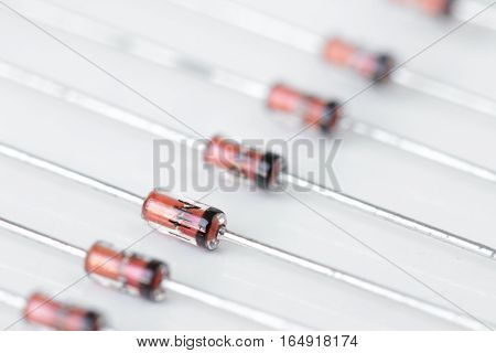 Small General Electronic Diodes Macro Close up