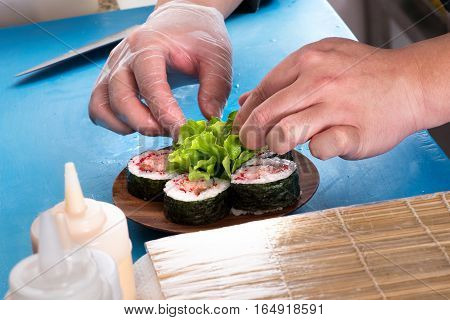 Preparing Of Futomaki Dish