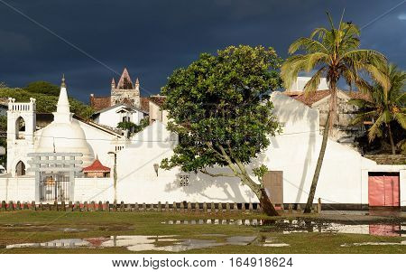 Colonial fine condition building development of the fort Galle on Sri Lanka.